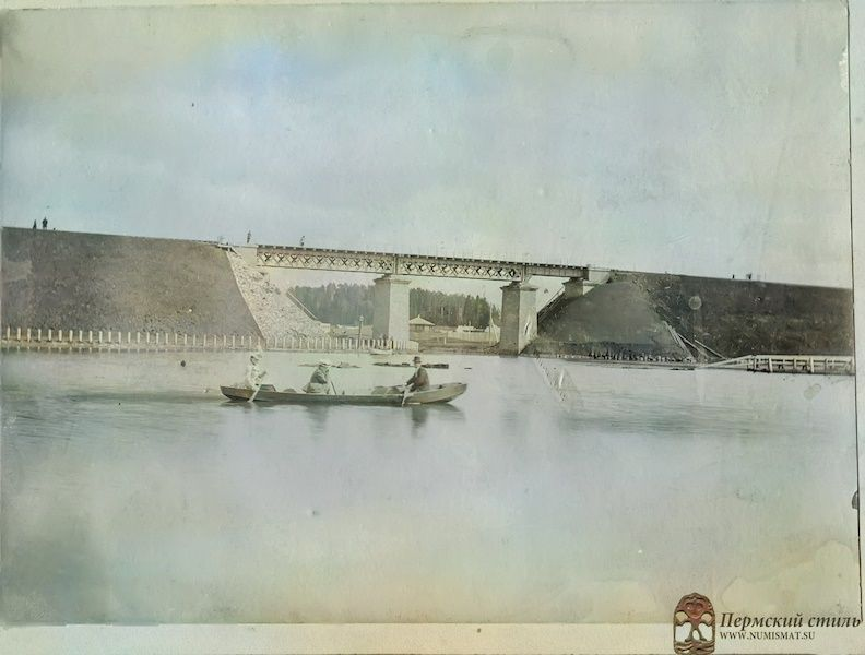 Железнодорожный мост через реку Данилиху у станции Заимки