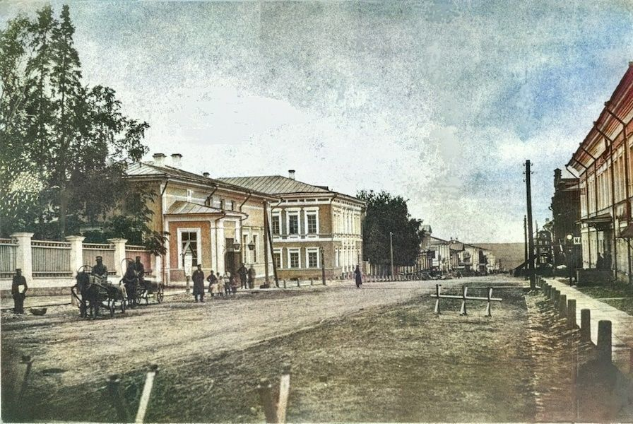 Дома губернатора и Любимовой до реконструкции