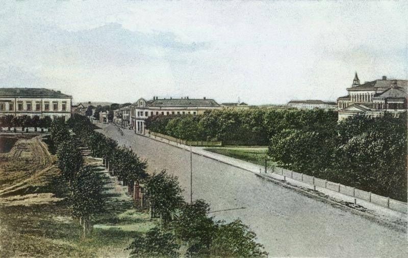 Вид на Театральный сад