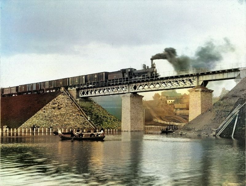 Железнодорожный мост через речку Данилиху