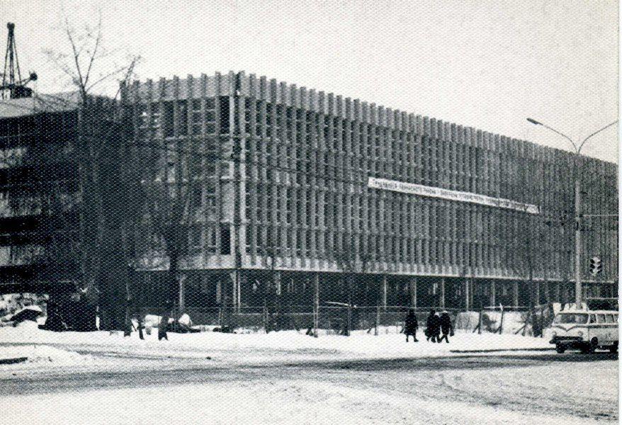 Строительство здания узла междугородней телефонной связи