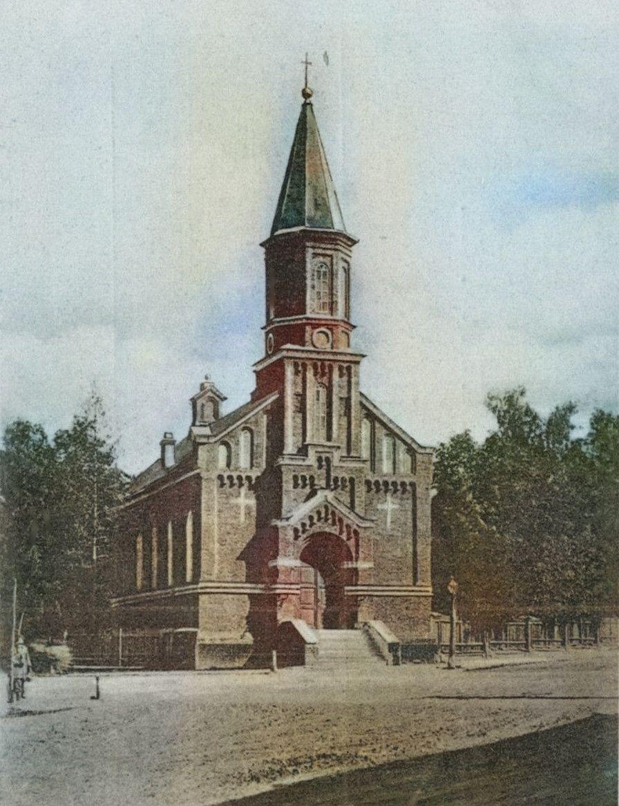 Кирха. Сейчас Евангелическо-лютеранская церковь святой Марии
