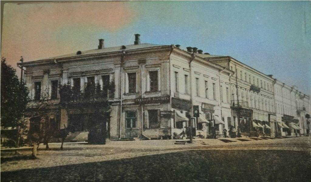 Перекресток улиц Сибирской и Покровской (Книжный магазин О. Петровской)