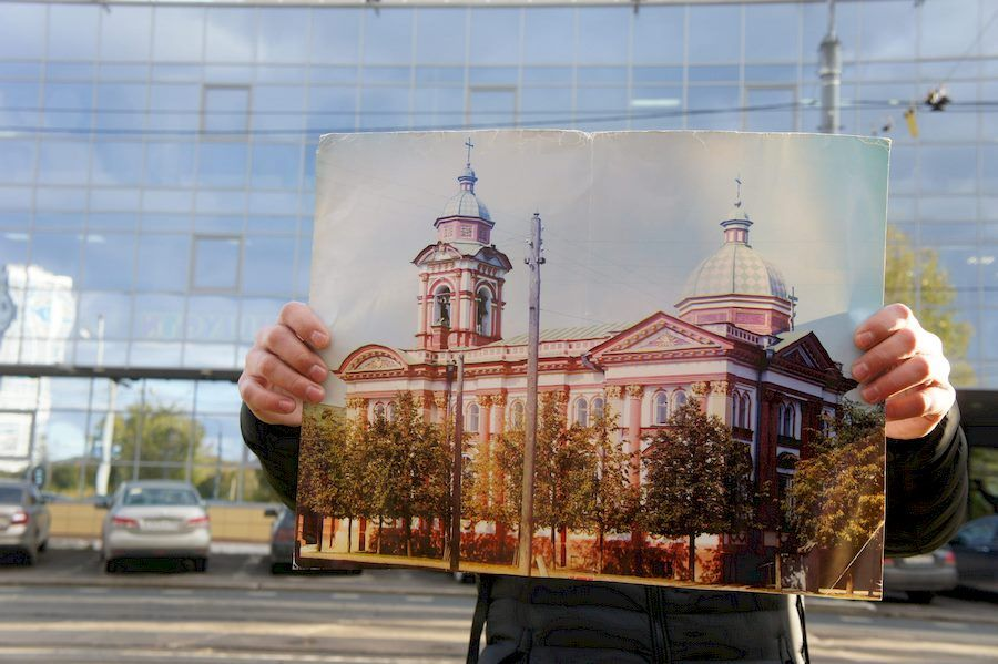 Так раньше выглядела церковь