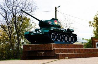 Памятник танку Т-34 в Кунгуре