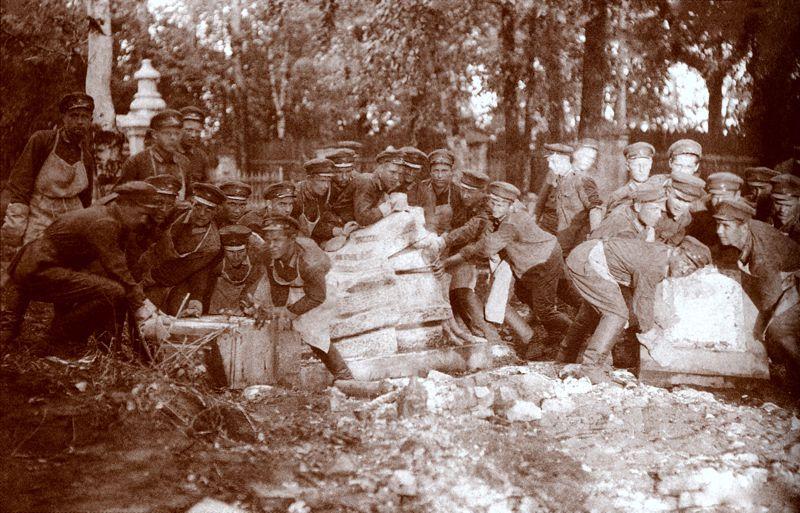 Архиерейское кладбище, Пермь, 1931 год, снос памятников.